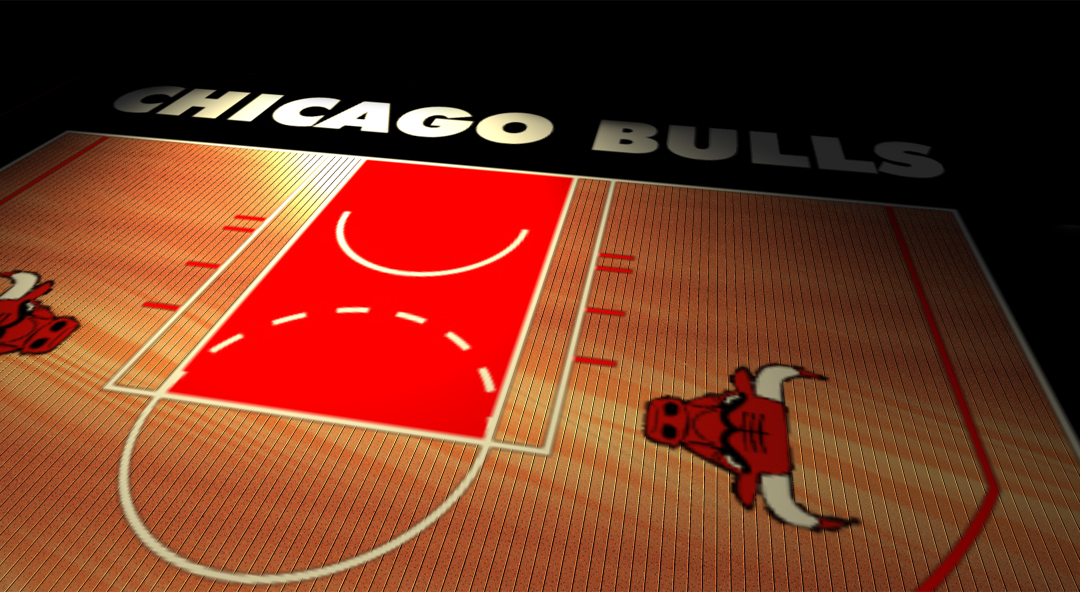 bulls basketball court by arzell