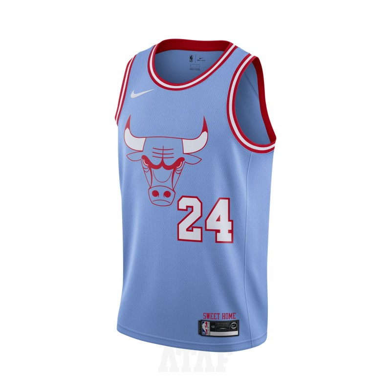 nike nba chicago bulls lauri markkanen swingman jersey city edition blue