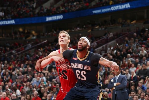 slide 11 of 97 anthony davis 23 of the new orleans pelicans and lauri markkanen 24 of the chicago bu 509103